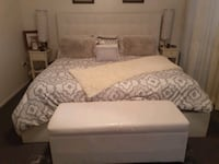 King bedroom set with mattress and box