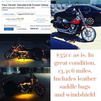 Red and black cruiser motorcycle Haysville, 67060