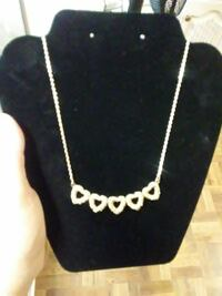 silver chain necklace with heart pendant Pharr, 78577