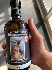 Colloidal Silver - natural antibiotic ear and eye cleaner for pets