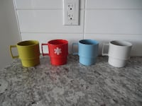 (x4) Vintage Tupperware Mugs all for $10 PU Morinville Morinville