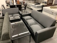 white leather sofa set with coffee table Chicago, 60621