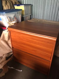 brown wooden 2-drawer chest Jersey City