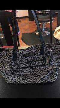 black and white leopard print tote bag Loves Park, 61111