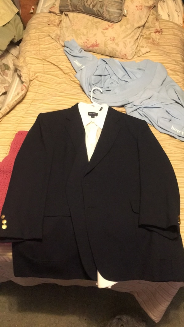 Navy Blue Suit Jacket Gold Buttons