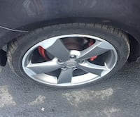 gray Audi 5-spoke vehicle wheel with tire Huddersfield