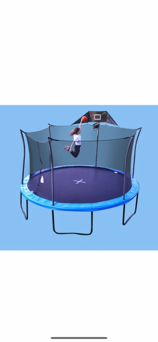 14FT TRAMPOLINE with BASKETBALL HOOP 972daf5b-5fbe-4325-a84a-e3727bf59c1e