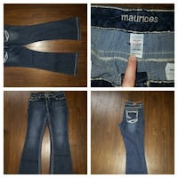 Maurices blue jeans collage