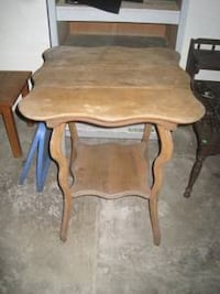 Antique Pine Small Wood End Table  Bettendorf