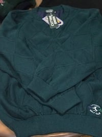 Men's lined wool sweater from Ireland. XL. Great in the wind and rain (thanks to the lining). Lahinch Golf Club logo. Can meet along Woodward Corridor between Ferndale and Pontiac .