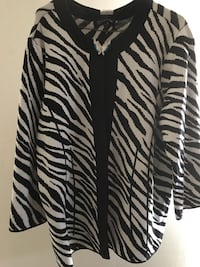 white and black zebra print long sleeve dress Vancouver
