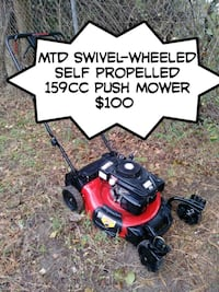 Mtd swivel wheeled self propelled 159cc push mower