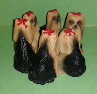 Rare CHRISTMAS YORKIE Candle Holder  Silver Spring, 20906