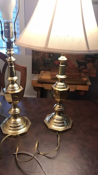 Lamps. Brass. Mint condition.