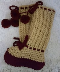 Handcrafted Crocheted Slippers Oakley, 94561