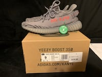 pair of gray adidas Yeezy Boost 350 with box Manassas, 20111