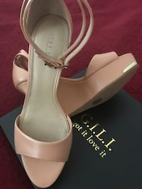 BRAND NEW...Leather wedges Chantilly, 20152