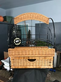 Brand New Wicker Caddy with Drawer