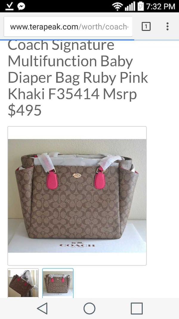 Reduced price Authentic Coach baby diaper bag.. 8a8084b6-b544-4577-8486-1d1e5793c905