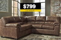 "2pc ""Coffee"" Sectional—BRAND NEW!!! Suwanee, 30024"