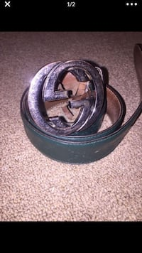 Green Gucci Signature Leather Belt Baltimore, 21213