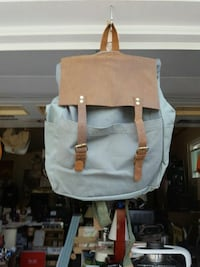 """""""The Barrel Shack"""" leather and canvas backpack Burtonsville, 20866"""