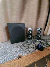 Cyber Acoustics Stereo Speakers and Subwoofer