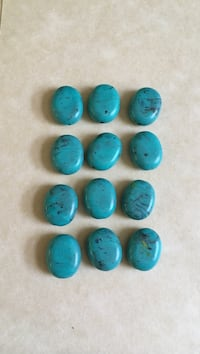 Ten turquoise colored stone beads  Eureka, 95501