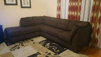 tufted brown suede sectional sofa Toronto, M1X 1W5