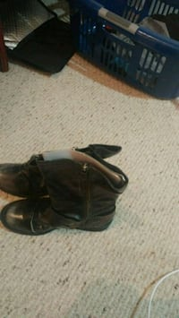 Ladies shoes, black leather size 7 Barrie, L4N 4W6