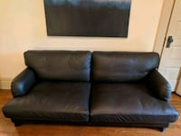 black leather 2-seat sofa Columbus, 43201