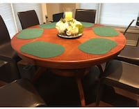 Solid brown wooden round table only  Toronto, M1W 3G5