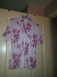 white and purple floral spaghetti strap dress Mississauga, L4T 2A5