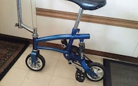 blue and black kick scooter