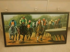 Horse oil painting.