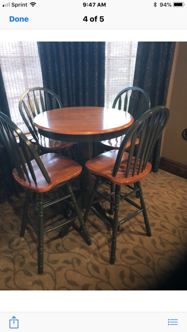 Used Pub Table And Four Chairs For Sale In Mansfield Letgo
