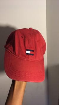 red and black fitted cap Alexandria, 22315