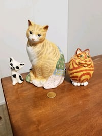 3 ceramic cats all three for $10