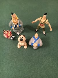 Lot of 4 Mulan toys (1999) Annandale, 22003
