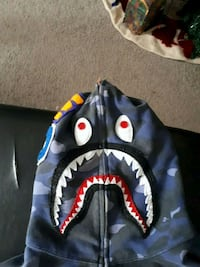 Blue bape shark (full zip)