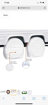 RV tire and wheel covers
