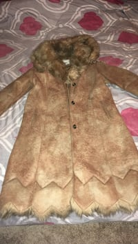 Brown fur coat large