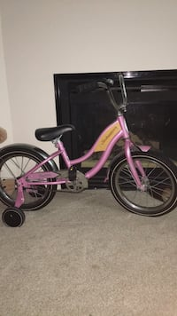 Toddler's pink and white bicycle Herndon, 20171