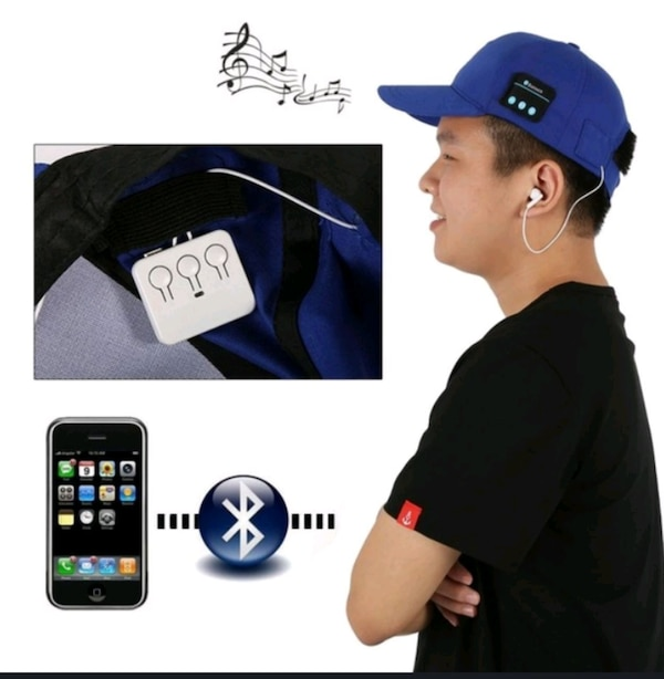 Men cap with headphone bluthood and charger ef45627f-3986-497d-a38b-d3e5712d7ef4