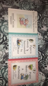 Three children books the tale of little pig Robinson, Piglet is entirely surrounded by water and piglet meets a Heffalump Edmonton, T6X 0K8