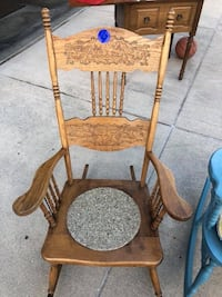 brown wooden windsor rocking chair South Bend, 46614