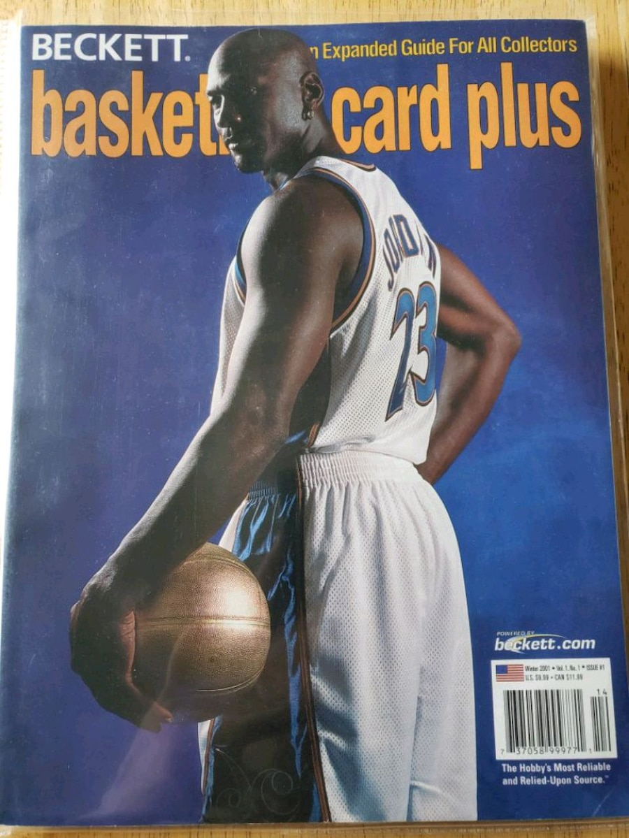 Photo Michael Jordan Washington Wizards NBA basketball Beckett magazine