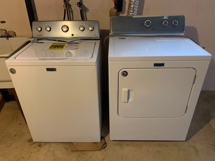 Photo Don't miss out Like new Maytag commercial model washer and dryer set