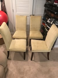 Dining chairs from a Pet free home. Ashburn, 20148