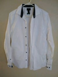 Women's white Express button up
